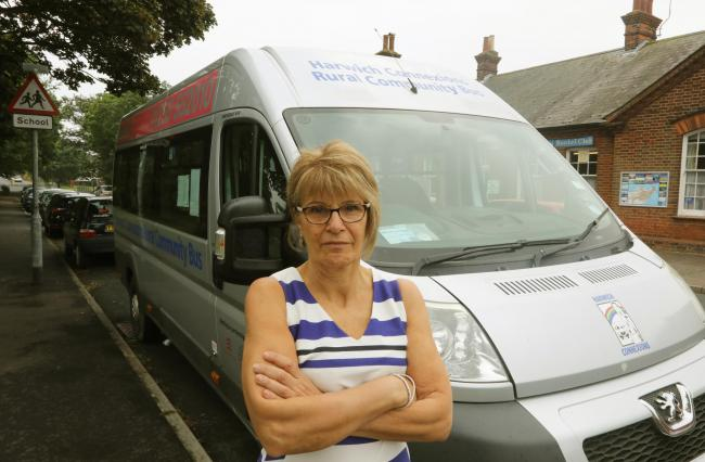 Anger - Debbie Hills is upset bus parts were stolen from two community minibuses