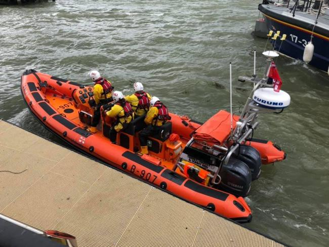 Launch - Harwich RNLI crew were called to an unattended surfboard