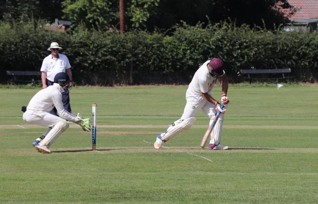 Mistley's Myles Churchill on his way to scoring 59 Picture: Colin Scott