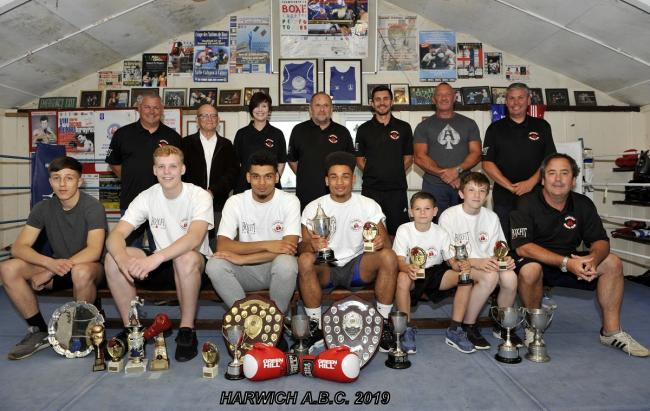 Great achievements: Harwich boxers celebrated their success at the club's recent annual meeting and presentation night. Picture: Dave Edwards Photography