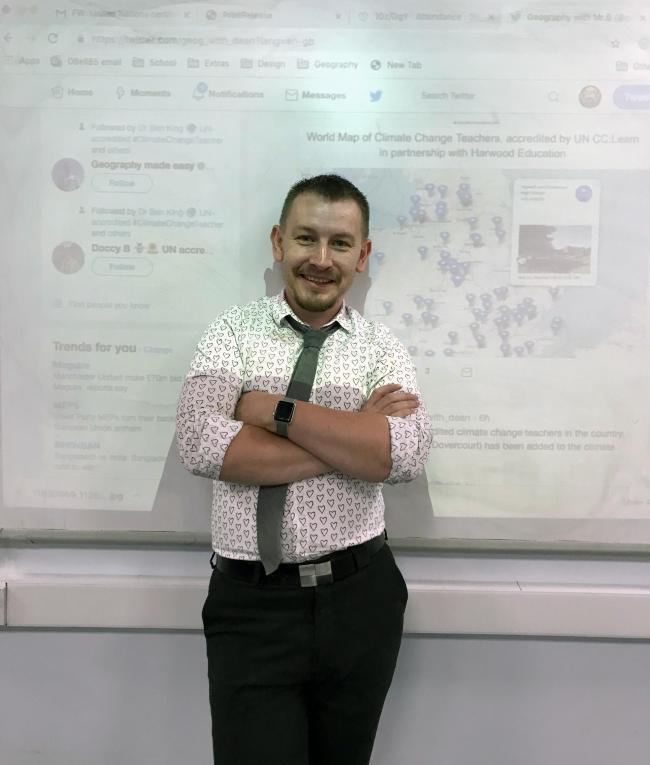 Teacher Dean Bell at Harwich and Dovercourt High School