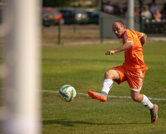 Two-goal hero - Holland's Steve Eaton notched twice against Coggeshall United