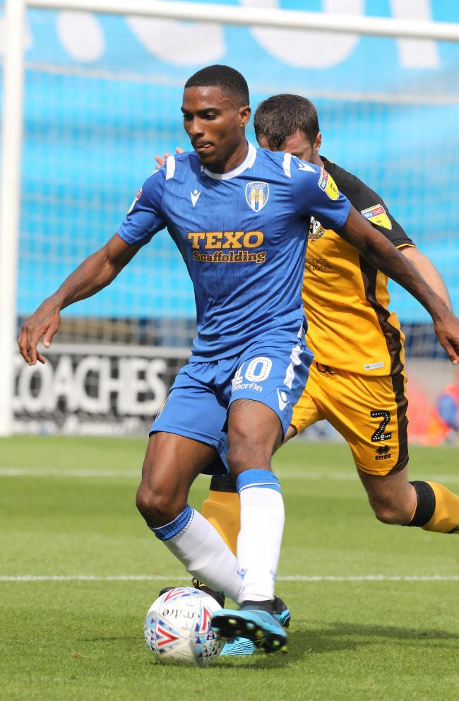Jevani Brown in action for Colchester against Port Vale on the opening day of the season. The sides shared the spoils from a 1-1 draw.