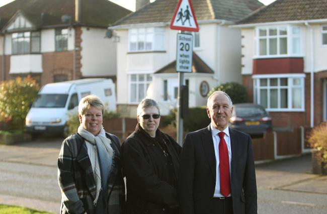 Safety calls: Ivan and Jo Henderson and Maria Fowler in Parkeston Road