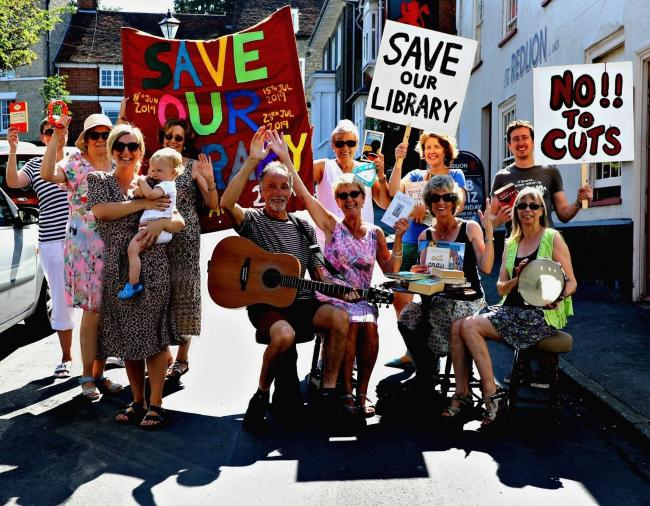 Street celebrations: A street party is being held in Manningtree in a bid to prevent the library being run by volunteers
