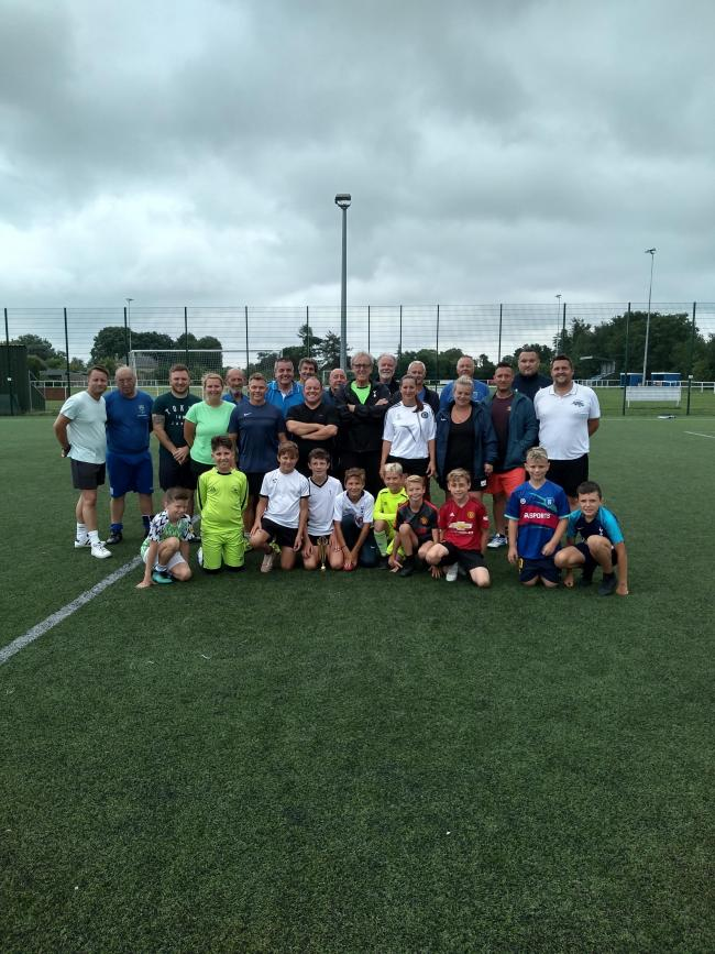 WALKING FOOTBALL: All teams that took part.