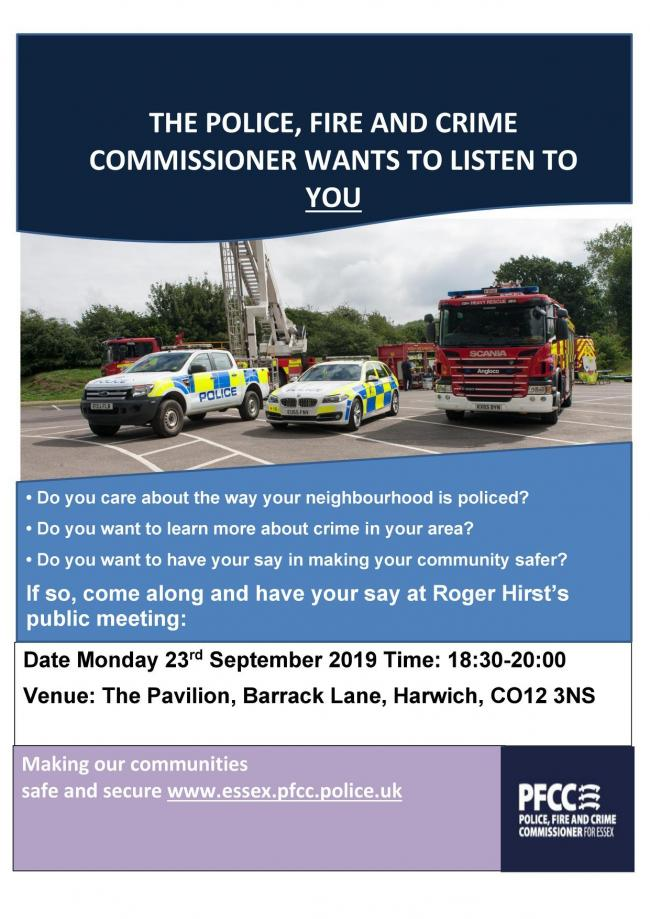 PUBLIC MEETING: Come along and talk to the Police, Fire and Crime Commissioner
