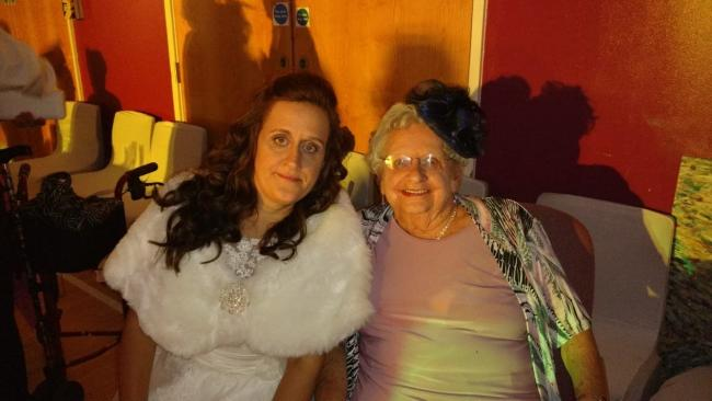 COFFEE MORNING: Kelly Bruwer with her grandmother Patricia May are fundraising together for Macmillan