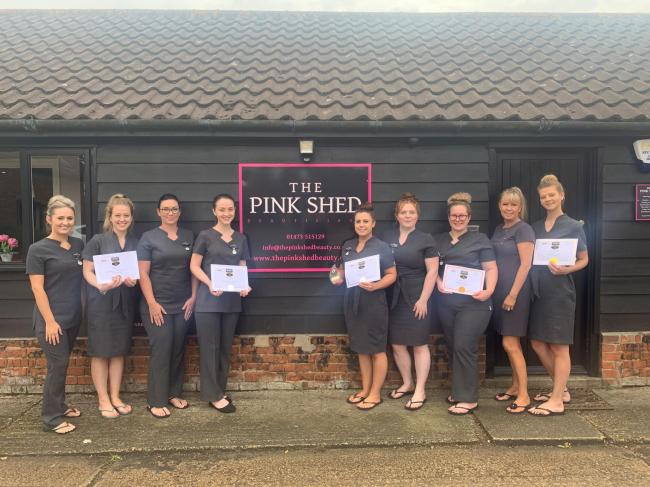 VICTORY CELEBRATIONS: The Pink Shed, in Brantham received, not one, but five awards at the British Beauty Awards