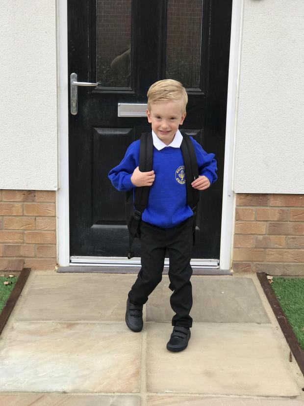 Harwich and Manningtree Standard: Roman on his first day of school