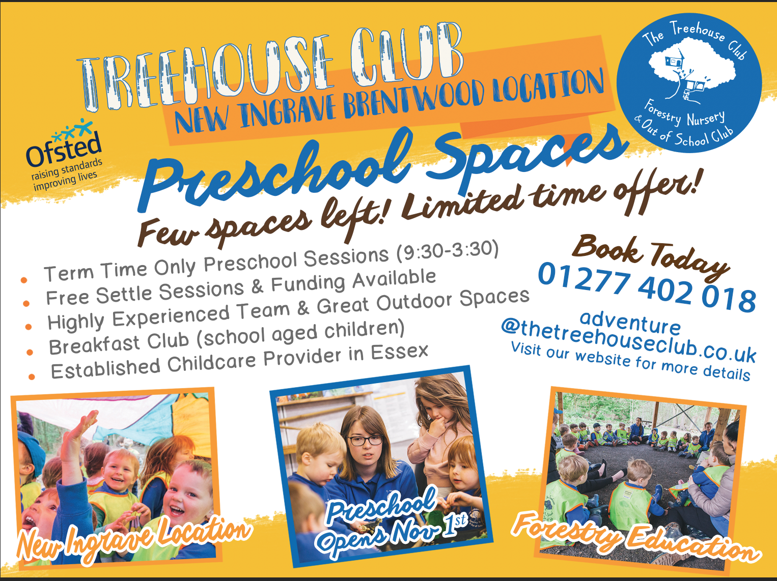 Treehouse Preschool Open Morning in Ingrave