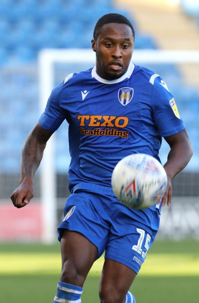 Absent - winger Callum Harriott did not feature for Colchester United against Salford City Picture: STEVE BRADING