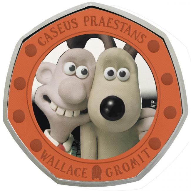 A Wallace & Gromit coin has been unveiled to celebrate their first film's 30th anniversary. Pic credit: The Royal Mint/PA