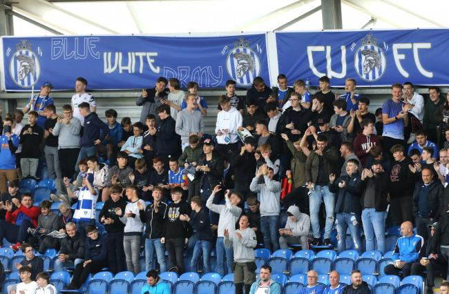 Stand and deliver - Colchester United are hoping their fans will turn out in force against Stevenage tonight Picture: STEVE BRADING