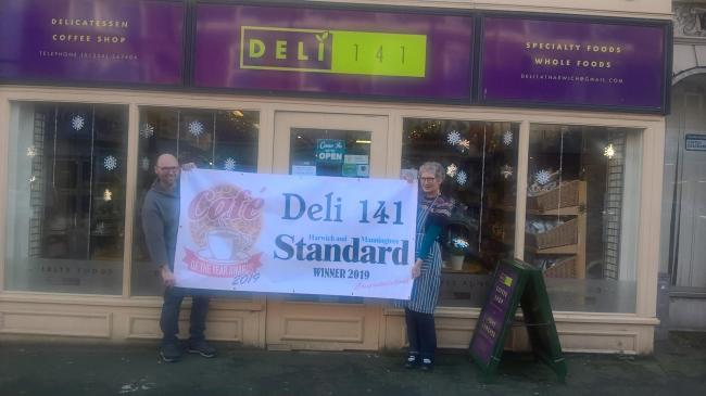 COMPETITION WINNERS: Deli 141 won the Cafe of the Year title. Pictured Adrian Pitham-Cole and Julia Poole