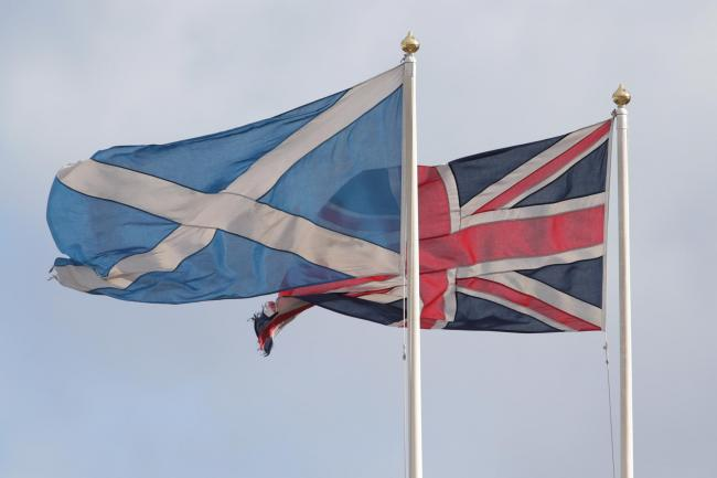 Saltire and Union Jack