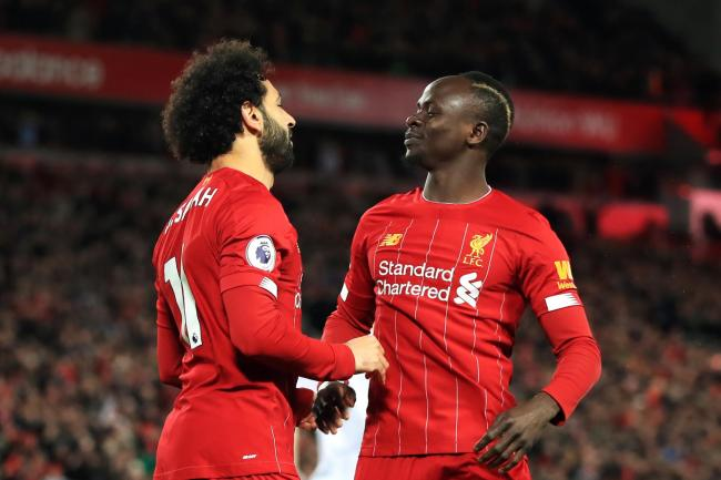 Sadio Mane, right, and Mohamed Salah have been crucial to Liverpool's winning run