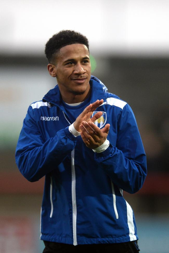 Bright young talent - Colchester United attacker Michael Fernandes applauds the U's fans at Morecambe Picture: RICHARD BLAXALL
