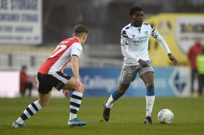 Skill - Colchester United's Kwame Poku in action against Exeter City Picture: RICHARD BLAXALL
