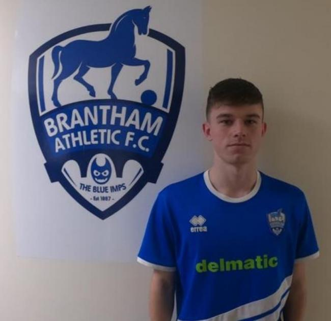 New signing: striker Finley Hammond made his debut as a late substitute in Brantham's victory at Haverhill Rovers.