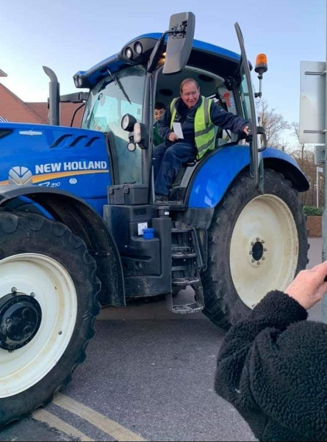 Stunned - John Crampin was shocked when the Ford tractor arrived to ship him back home