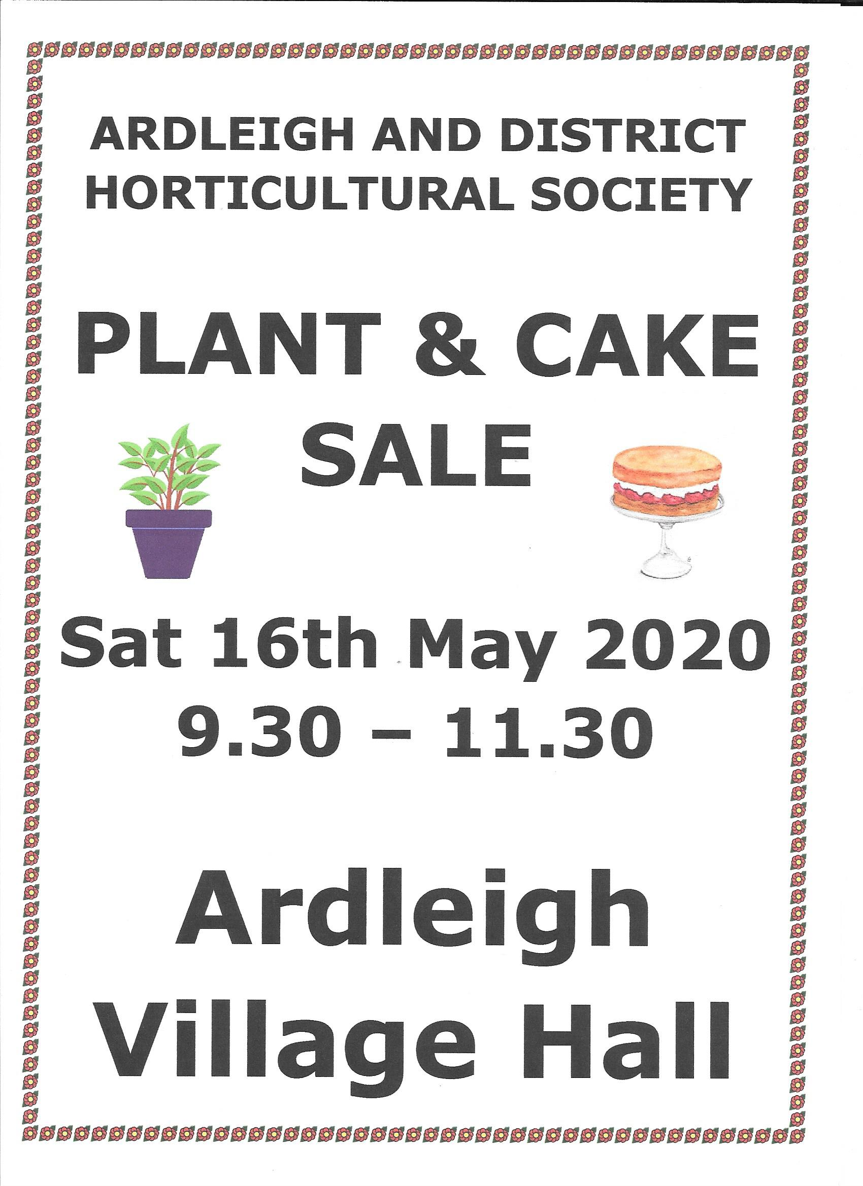 Ardleigh & District Horticultural Society Plant and Cake Sale