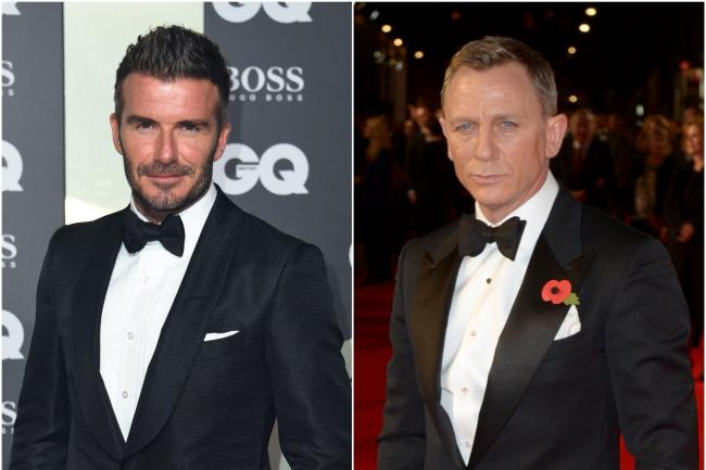 David Beckham and Daniel Craig