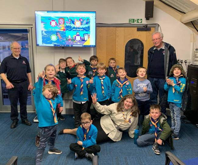 INFORMATIVE VISIT: Oakley's and Ramsey Scout group visited Harwich RNLI