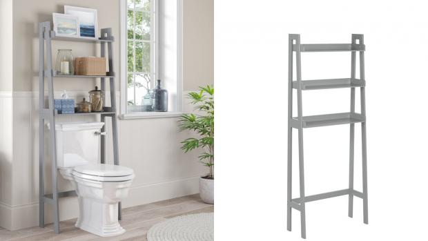 Harwich and Manningtree Standard: Over-the-toilet units provide a lot more storage space. Credit: Wayfair