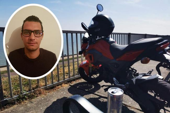 STOLEN MOTORBIKE: This red Honda was stolen during early hours of Tuesday morning