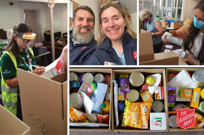 GREAT SUPPORT: The Salvation Army helped about 500 vulnerable people by providing food parcels