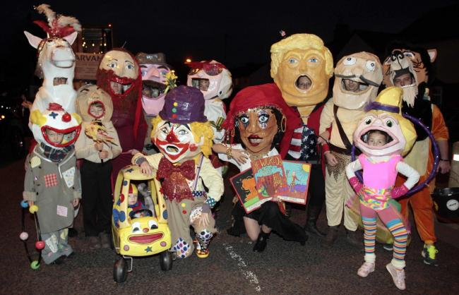 Guy Carnival on Saturday at Main Road, Dovercourt..Big Heads Brigade..