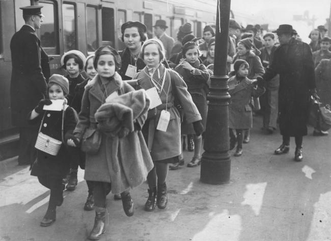 Safe - Children at the holiday camp after arriving in Harwich on the Kindertransport