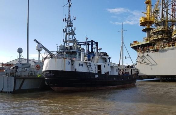 Arrests - the fishing boat was escorted into Harwich Harbour