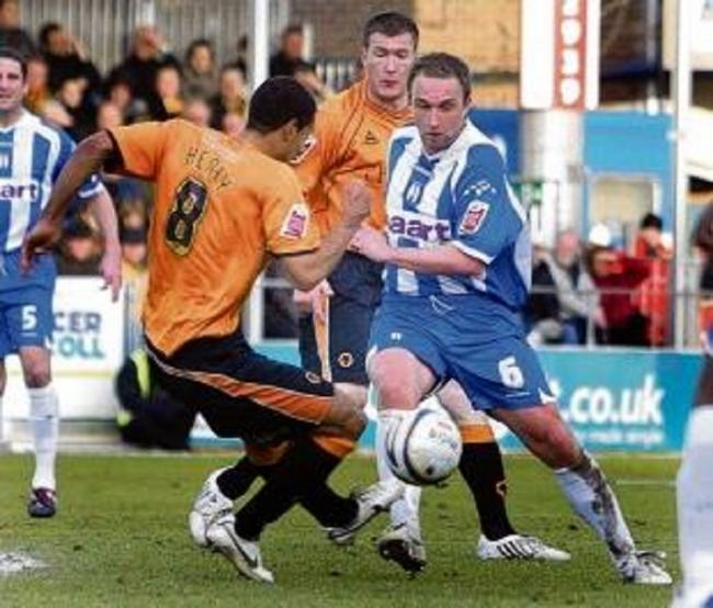 Playmaker - Kevin Watson in action for Colchester United, in 2008