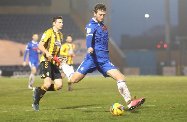 Stalwart - Colchester United defender Tom Eastman produced a competent display at right-back against Cambridge United Picture: STEVE BRADING