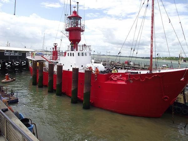 Harwich: Lightship arrives at new home