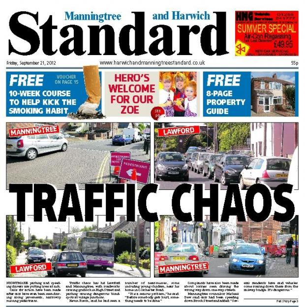 Harwich and Manningtree Standard: Manningtree front page