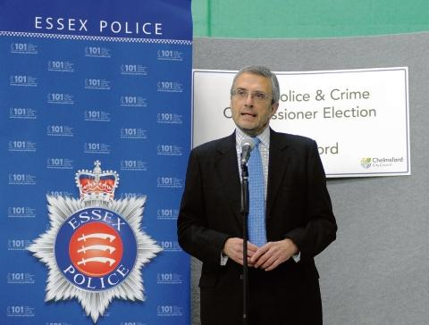 Harwich and Manningtree Standard: Police and Crime Commissioner Nick Alston.