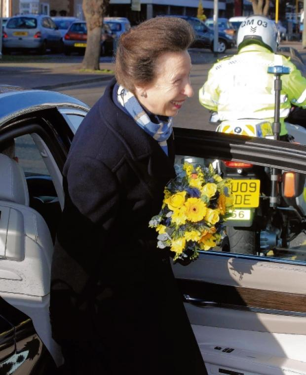 Princess Anne on her visit to Tendring Citizens Advice last year