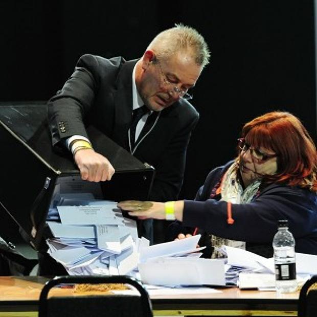 Counting of the votes in the Rotherham by-election takes place at the Magna Science Centre