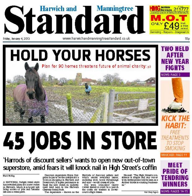 In this week's Harwich and Manningtree Standard