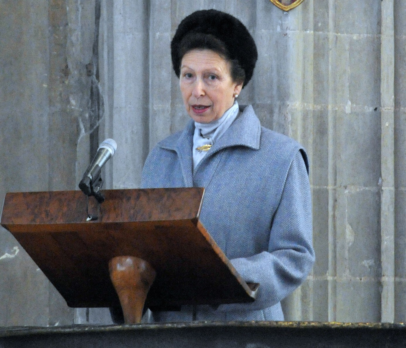 Princess Anne attends flood memorial service