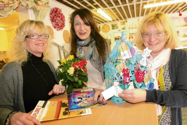 Jenine Collier with Lisa Parsonson andToni Spurgin at the launch of Blooming Crafty – now renamed Creatively Crafty – in Station Road, Manningtree, last year
