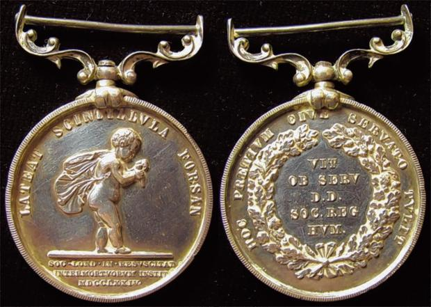 Bravery medal of tragic hero to be sold at auction
