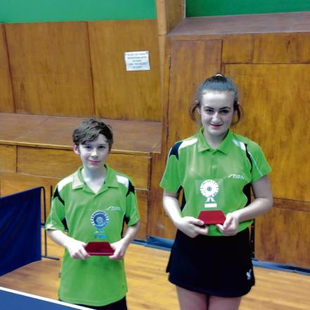 TOP TALENT: Sam Hume and Gracie Edwards with their Essex Schools Championship awards.