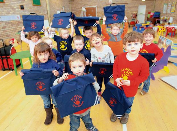Pre-School pupils given bags to prepare for primary school