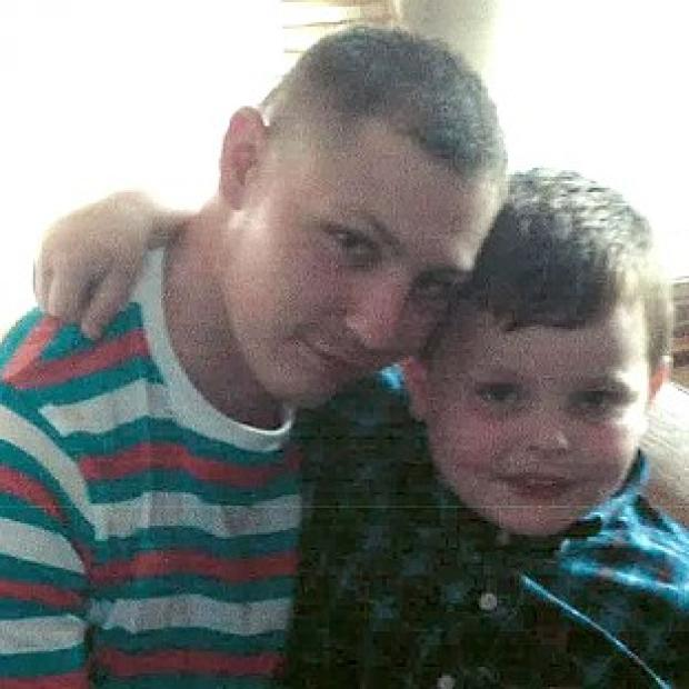 Harwich and Manningtree Standard: Dean Mayley, 24, hugging his seven-year-old nephew Callum