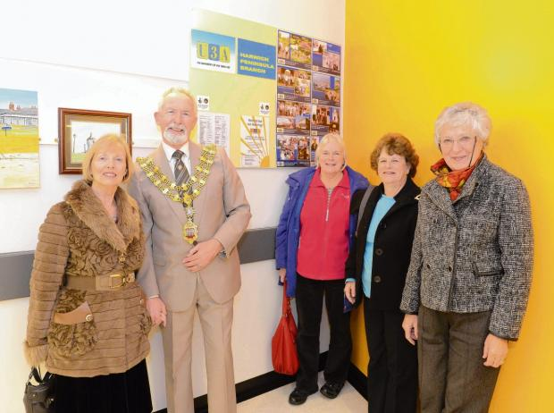 Colourful artworks go on display at hospital