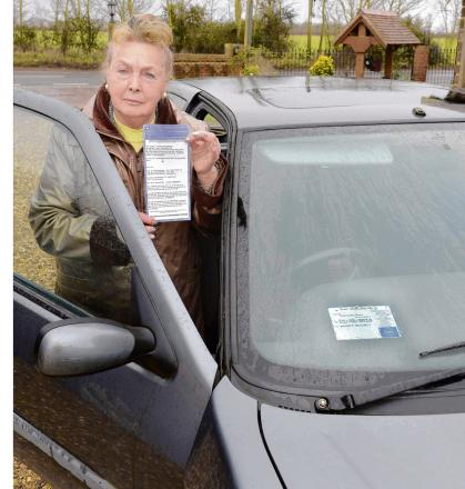 Disabled driver warns others about